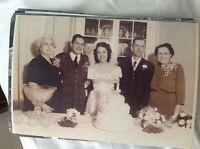 M17b8 6x4 Inches reprint Photograph ww2 Wedding Couple Bride a028 reception