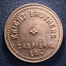 Scarce Louisiana token - Knight Brothers, 10¢, Caspiana, La.