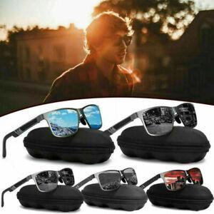 Herren HD Polarisiert Sonnenbrille 100% UV400 -Polycarbonat Pilotenbrille Neu