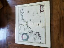 Antique 1636 map by Jansson - New England RARE EXCELLENT