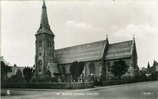 REAL PHOTOGRAPHIC POSTCARD ST. MARY'S CHURCH, CARLTON, NEAR GOOLE EAST YORKSHIRE