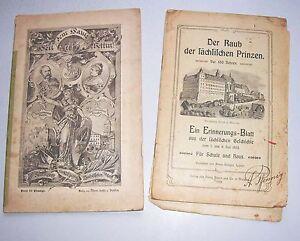 2 Hefte sächsische Geschichte Raub der sächsischen Prinzen Geschichte Wettin !