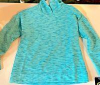 Girls' Plush Fleece Hoodie - C9 Champion Teal Blue Size Large 10/12 NWT