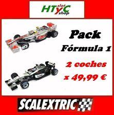 SCALEXTRIC 2 COCHES PACK FORMULA 1 MCLAREN HAMILTON + MCLAREN KIMI RAIKKONEN