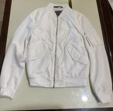 Zara Mens White Bomber Jacket Size Medium