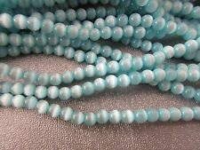 Blue Cat's Eye Round 3mm Beads 130pcs