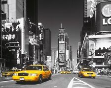 Poster Times Square yellow cab Taxi NY New York NEU