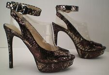 JESSICA SIMPSON CAREEN High Heels Open Toe Sandal Ankle Strap Size 7.5 M
