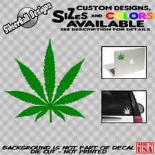Pot Leaf Decal Vinyl Car Window Marijuana Weed Cannabis Dope Sticker 420 Laptop