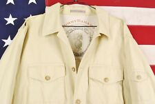 MENS L Tommy Bahama Safari Button Up Jacket Lightweight Photography Beige