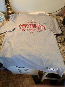 cincinnati reds Majestic MLB Authentic Collection Silkscreen T-Shirt Size L New