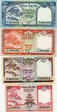 Nepal - 5, 10, 20 and 50 Rupees - Set of 4 UNC currency notes