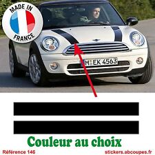 2 Bandes Capot pour Mini Cooper - Autocollants Stickers - 146