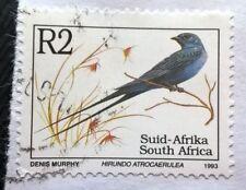 South Africa stamps - Blue Swallow (Hirundo Atrocaerulea) - 2 rand 1993