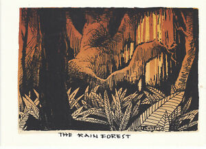 Elton Bennett Original Hand Screened notecard, The Rain Forest