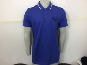 Emporio Armani EA7 Core ID Polo Shirt Royal blue XL XLarge 44/46 bnwt