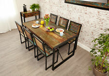 Urban Chic Furniture Reclaimed Wood Large Dining Table Only Steel Frame