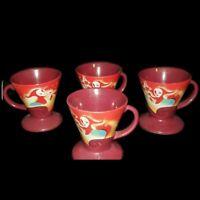 Set of 4 Linda Frichtil 1999 Frangelico Liqueur Demitasse Mugs