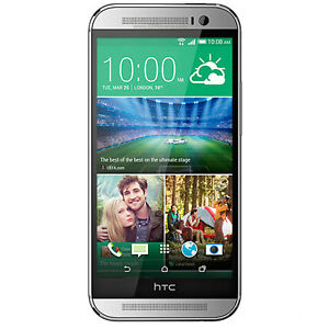 New HTC One M8 16GB Glacial Silver Factory Unlocked Genuine GSM 3G 4G