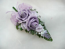 Wedding  Flower Buttonhole Lilac.... PIN ON