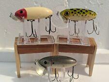 LOT OF  THREE FRED ARBORGAST JITTERBUG FISHING LURES