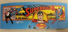 SuperMan arcade marquee sticker. 3.5 x 10. (Buy any 3 stickers, Get One Free!)