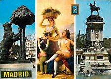 Madrid Monumento al Oso y El Madrono Goya La Vendimia Marque del Retiro Postcard