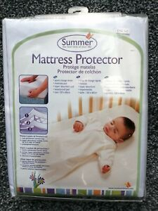*SALE* BNWT Summer Infant Baby Cot Bed Mattress Protector 120 x 60cm