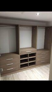Fitted Bespoke Design Internal Wardrobe Storage Unit. Made To Measure.
