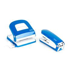 Locher Heftgerät Set Bürolocher Novus E30 E225 blau Büroset Schulbedarf