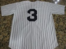 New!! YANKEES #3 BABE RUTH New York Retro Stitched Pinstripe Jersey Men 2XL 52