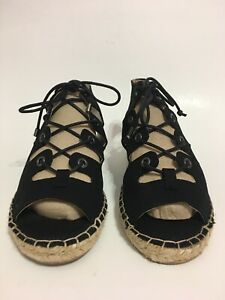 Womens Simply Vera Wang Delores Espadrille Open Toe Lace Up Flat Sandals Size 6M