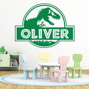 Personalised Jurassic Park Name Dinosaur Decor Vinyl Wall Sticker Decal Bedroom