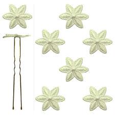 6 épingles pics cheveux chignon mariage mariée danse fleur de dentelle ivoire