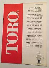 TORO Whirlwind II Rotary Mower Original 1978 / 1994 Owners Manual