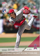 Shohei Ohtani  Collects 1st Career Win in MLB Pitching Debut TOPPS NOW CARD 23
