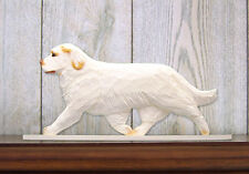 Clumber Spaniel Dog Figurine Sign Plaque Display Wall Decoration Orange