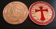 Chevaliers Du Temple, Templiers Croisés 999 1 Once Médaille en Cuivre Faredition