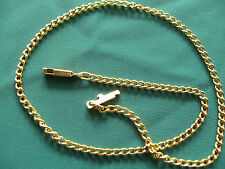 1/10th 9ct ROLLED GOLD MEDIUM TO FINE CURB LINK CHAIN ANKLET 14m