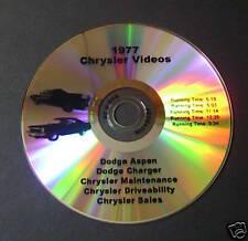Sales DVD for 1977 '77 Dodge CHARGER Aspen R/T S/E Mopar
