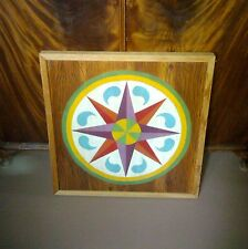 FOLK ART FORM-Hex sign Symbol of raindrops Old art with color & symbol  meanings
