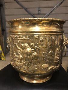 brass flower pot