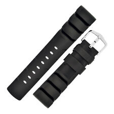 Hirsch EXTREME Natural Rubber Waterproof Diving Watch Strap in BLACK