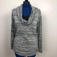 Dress Barn black/White Size14/16 Cowl Neck Long Sleeve