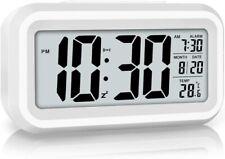 Led Display Digital Alarm Clock Battery Powered Smart Night Light Easy Operation