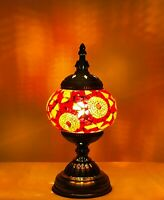 Handmade Turkish Moroccan Stained Glass Mosaic Table Lamp For Home Decor Bubbles