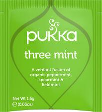 Pukka Tea 20 Sachets Organic Herbal Teabags - Three Mint