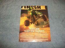 "1987 Kawasaki KXF250 TECATE 4 ATV Vintage Ad ""Win One with the Ripper"""