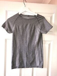 Primark Grey Size 10/12 Workout Womens Fitness Sports Active Tshirt Top