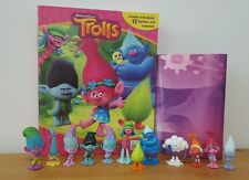 Dreamworks Trolls My Busy Book + 12 Character Figurines & Playmat - Cake Toppers